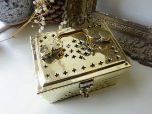 Antique Indian brass pandan box