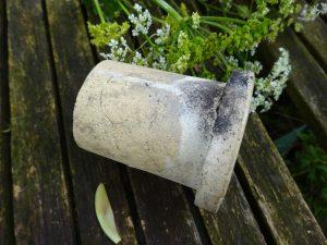 19th century French stoneware sink waste