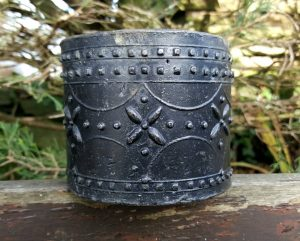 Antique lead caddy