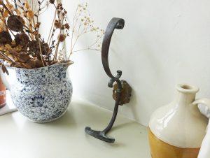 Antique bronze French coat & hat hook