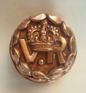 Antique copper jelly mould - a scarce and desirable Benham & Froud jello mold, Victoria Regina design No. 550 registered number 1897
