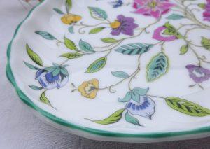 "Vintage Minton Haddon Hall oval dish, 8.5"" side plate"