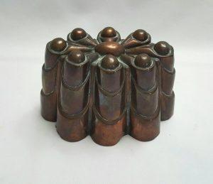 Antique copper jelly mould - a late 19th Century Victorian copper jello mold design No. 211
