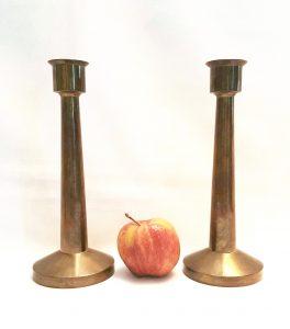 Modernist bronze candlesticks